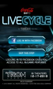 Coca-Cola Zero LiveCycle: Tron Mobile Android Game Review