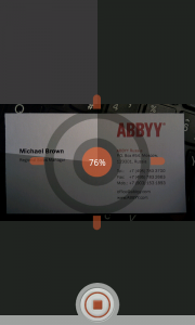 ABBYY Business Card Reader Android App Review