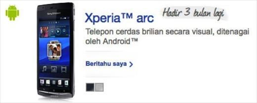 Will Sony Ericsson Launch the Xperia Arc in April?