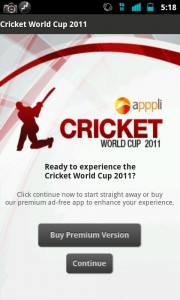 Cricket World Cup 2011 Android App Review