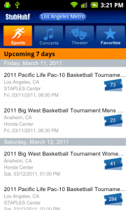StubHub Released for Android