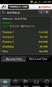 Formula 1 Android App released