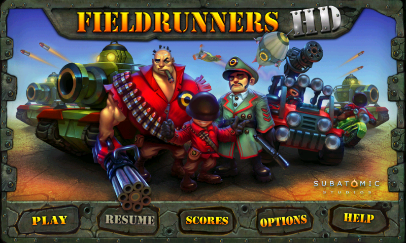 A Review of Fieldrunners HD for Android