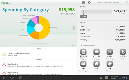 Mint personal finance app comes available for android tablets for ccuart Gallery