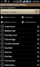 Get your Alchemy on with the Skyrim Alchemy Shared Effect App for Android