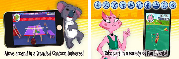 Prepare for the Olympics with Toons Summer Games 2012 for Android