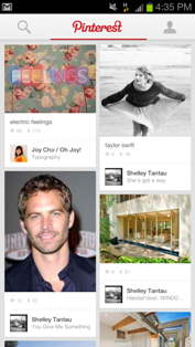 Quick Review of Pinterest Android app