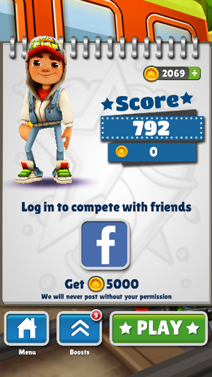Quick review: Subway Surfers for Android