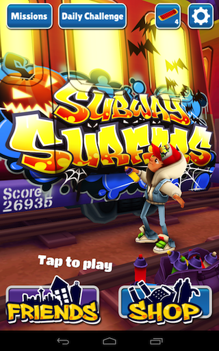 Subway Surfers Android game updated with new missions and new unlockable characters