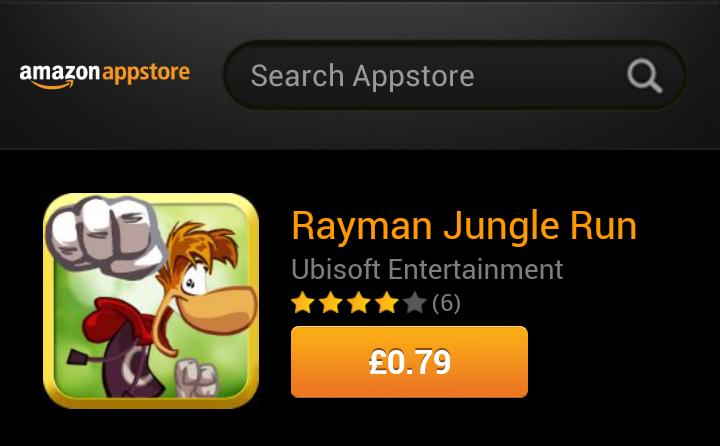 Rayman Jungle Run reduced by 66%
