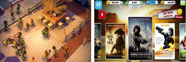 Lights, Camera, Zombies! in Gameloft's Zombiewood for Android