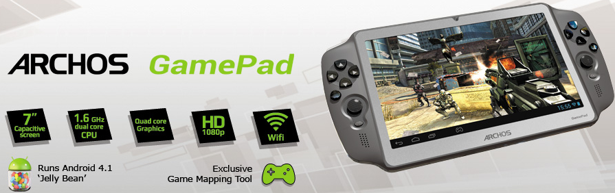 Archos GamePad – the Android powered handheld console