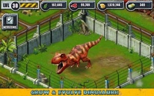Grow and Show your own Dinosaurs in Jurassic Park Builder for Android