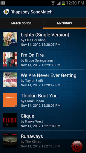 Rhapsody launches SongMatch, an Android app that lets you find the title of a song that you hear