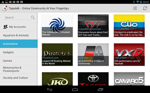 Tapatalk HD beta now available for Android tablets