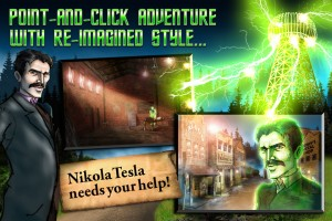 Take a Point and Click Adventure with Tesla's Electric Mist for Android