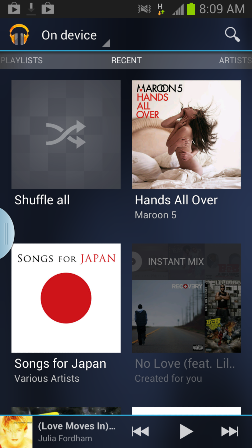 Google Music Play Android app