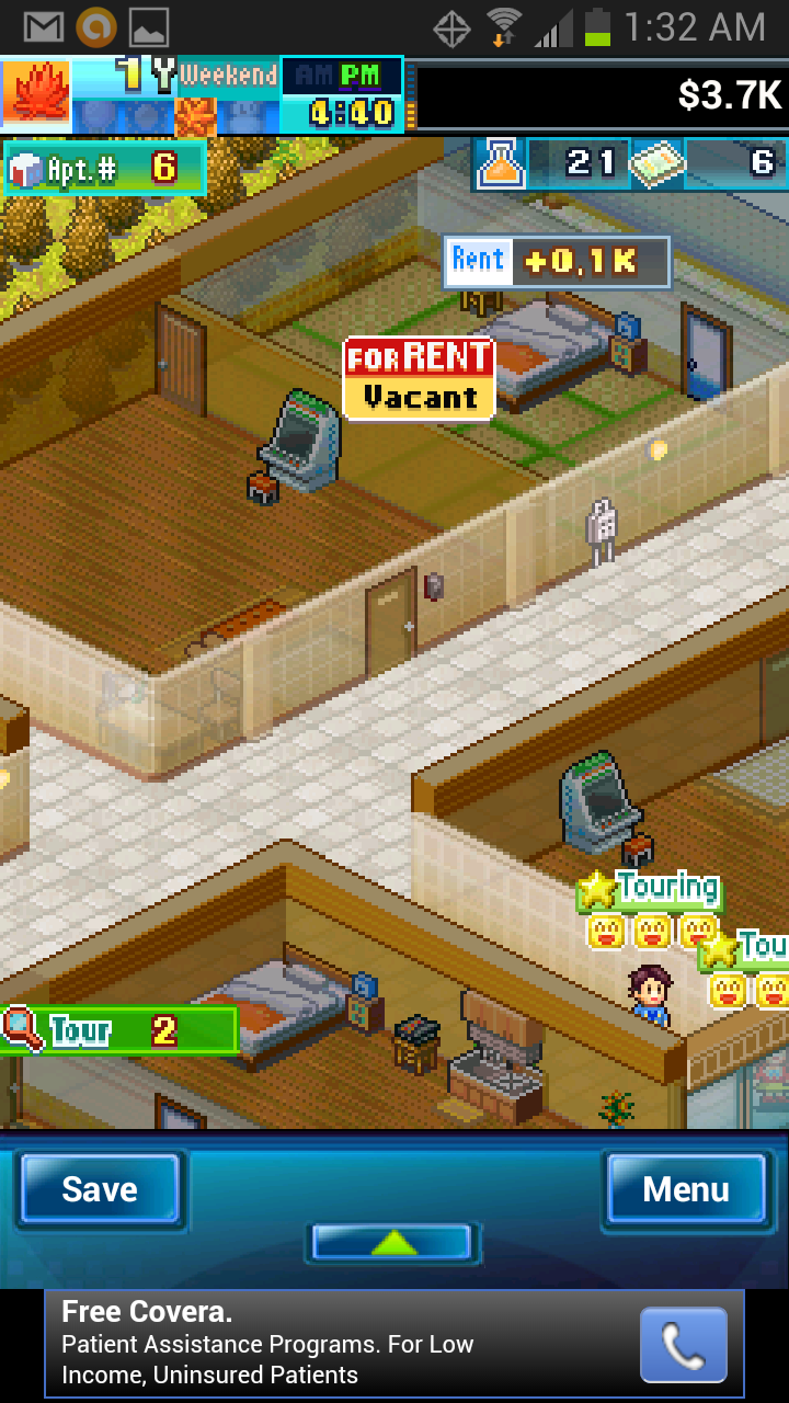 Build apartments and have kids in kairosoft s dream house Build your dream house app