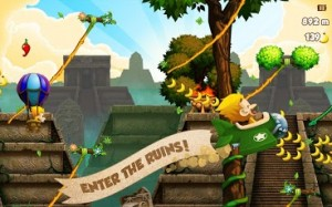 Swing through the Jungle in Benji Bananas for Android