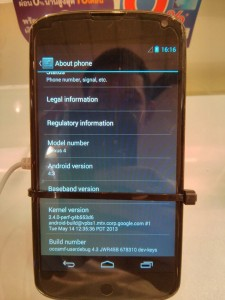 Android 4.3 Running on Nexus 4 Leaked at Mobile Show