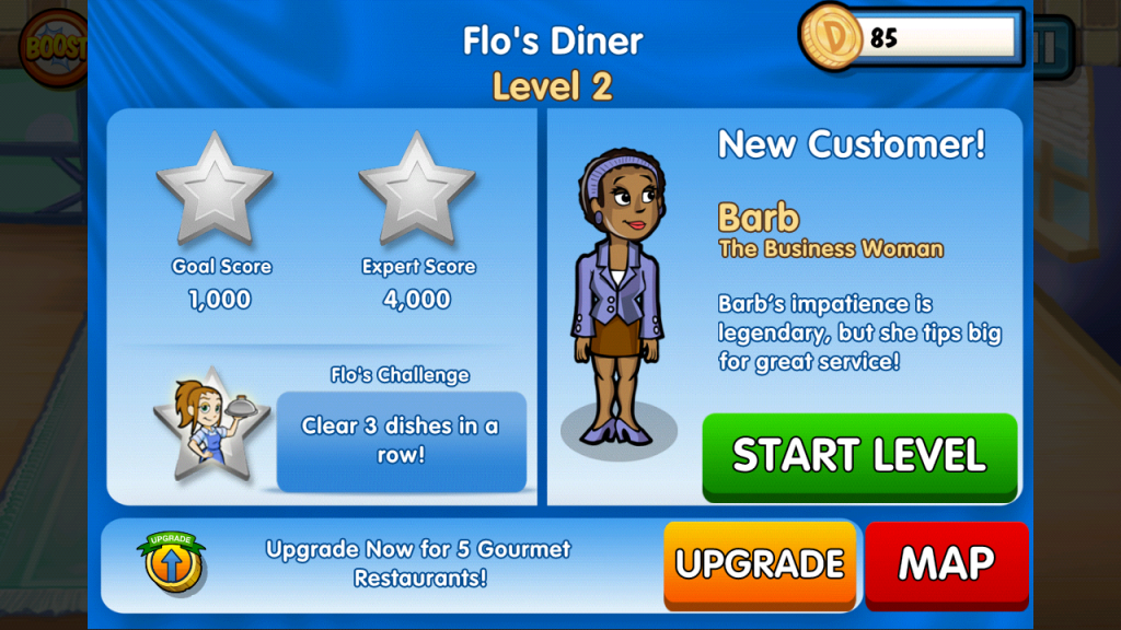 Diner Dash zips onto Google Play