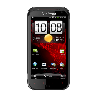HTC Rezound™ screen