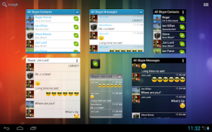 widgets for skype