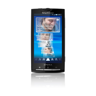 Sony Ericsson Xperia™ X10 screen