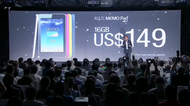 ASUS unveils the Budget-Friendly MeMo Pad HD7