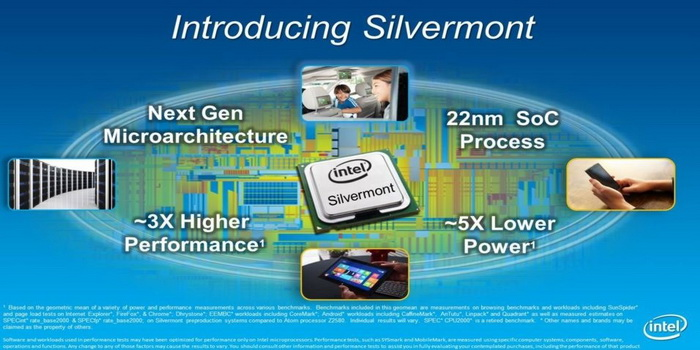 Intel Introduces Silvermont Architecture for Tablets and Smart Phones