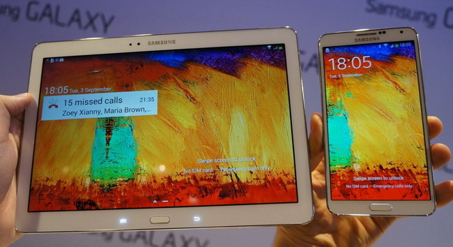Samsung Galaxy Note 3 and Note 10.1 Revealed at IFA 2013