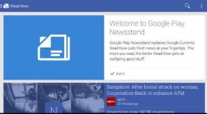 Google Play Newwsstand Android App