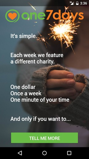 Make A Change In The World With The One7days App