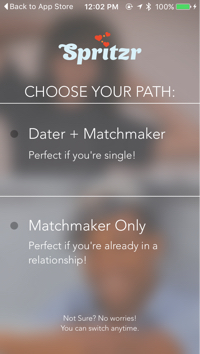 Spritzr Matchmaking App Review