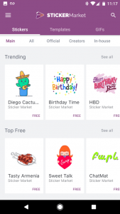 Sticker Market: Emoji keyboard for Android